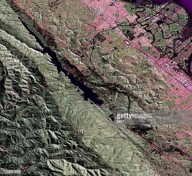 This image showing a portion of the San Andreas Fault along the San Francisco Peninsula was taken by the UAVSAR instrument on NASA's Gulfstream III...