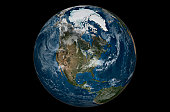 This image shows a view of the Earth on September 21, 2005 with the full Arctic region visible.