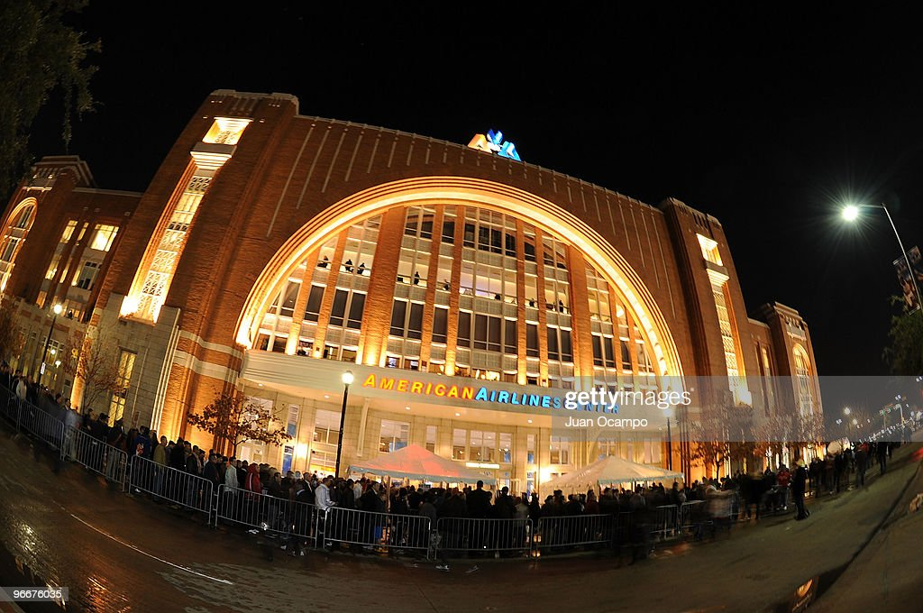 This image shows the exterior of the American Airlines Center during the Taco Bell Skills Challenge as part of All Star Saturday Night during 2010...