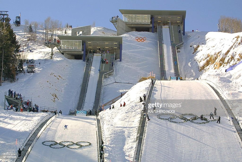 This Image Shows Utah Olympic Park Venue For The 90 And 120 Meter Ski Jumping Competition