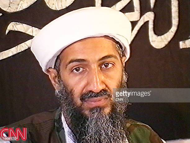 This image taken from a collection of videotapes obtained by CNN shows Saudi terrorist suspect Osama bin Laden at a press conference May 26 1998 in...