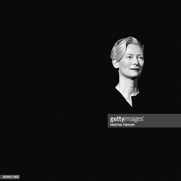 NOTE This image was created using digital filters Tilda Swinton during the 66th Berlinale International Film Festival on February 12 2016 in Berlin...
