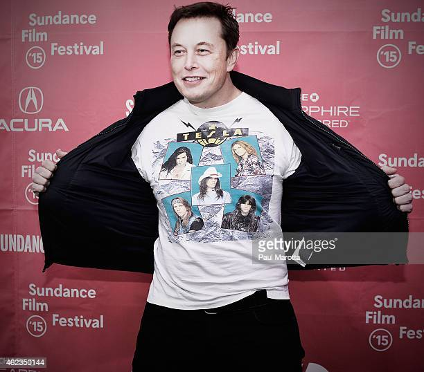 This image was processed using digital filters Elon Musk attends the 'Racing Extinction' Premiere at the 2015 Sundance Film Festival on January 24...