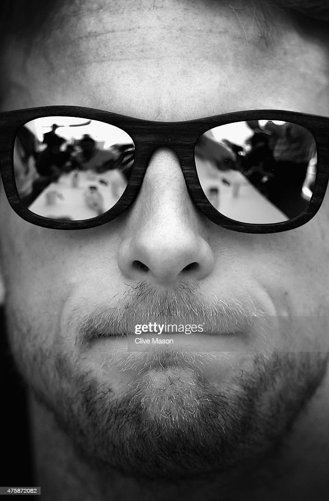 This images has been converted to Black and White. <a gi-track='captionPersonalityLinkClicked' href=/galleries/search?phrase=Jenson+Button&family=editorial&specificpeople=171505 ng-click='$event.stopPropagation()'>Jenson Button</a> of Great Britain and McLaren Honda looks on during previews to the Canadian Formula One Grand Prix at Circuit Gilles Villeneuve on June 4, 2015 in Montreal, Canada.