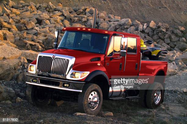This International Truck and Engine Corp handout photo shows the truck manufacturer's new CXT the largest production pickup truck available The CXT...
