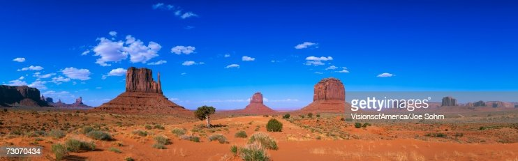 This is a 360 degree panoramic image of Monument Valley Navajo Tribal Park. : Stock Photo