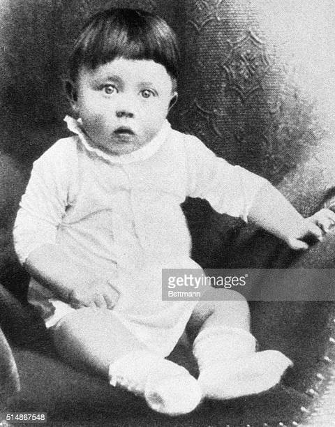 This is a baby portrait of Adolf Hitler Undated photograph