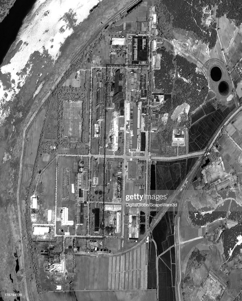This is a close up satellite image of the Yongbyon, North Korea Fuelfab from June 19, 2013.