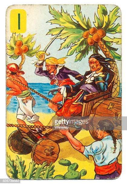 Peter Pan and Wendy Pepys playing card 1939