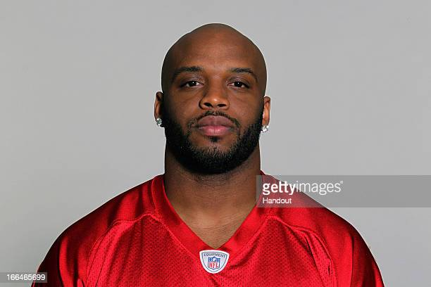 This is a photo of John Abraham of the Atlanta Falcons NFL football team This image reflects the Atlanta Falcons active roster as of Tuesday June 19...
