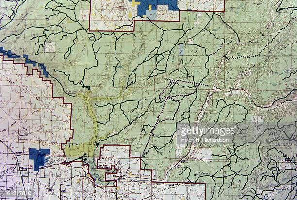 This is a portion of a map of the Boggy Glade area of the US Forest Service's modified alternative B plan This shows the existing roads spread out...