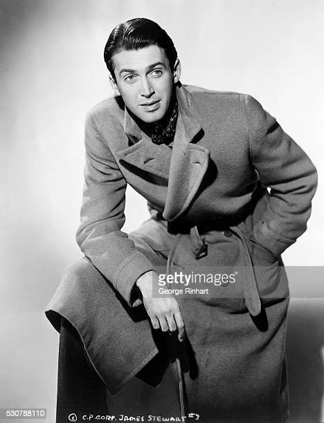 This is a publicity photo of actor James Stewart