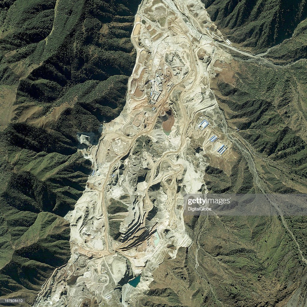This is a satellite image collected on November 13, 2012 of the Maoniuping Mine, the world's second largest rare earth elements (REE) mine located near Mianning, Sichuan Province, China.