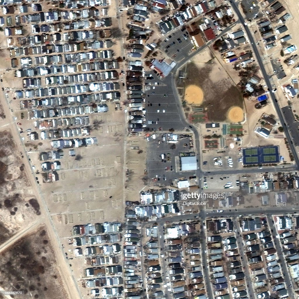 This is a satellite image of Breezy Point, New York, United States collected on April 4, 2013.