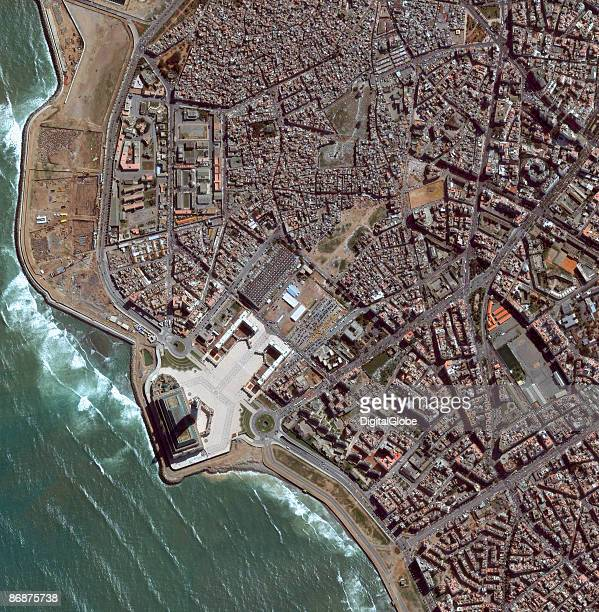 This is a satellite image of Casablanca Morocco taken on February 21 2009