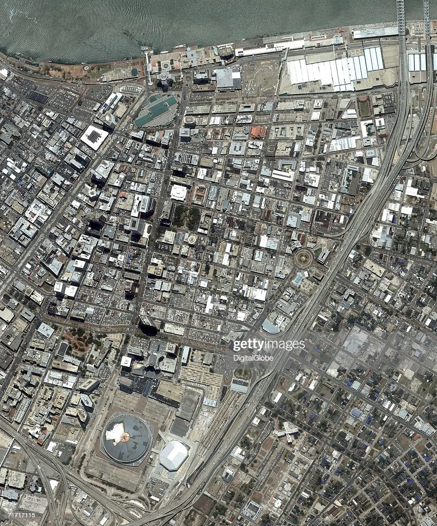 This is a satellite image of downtown New Orleans, Louisiana collected on June 13, 2006, New Orleans Louisiana.