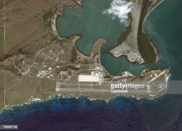This is a satellite image of Guantanamo Bay Cuba collected on December 12 2006