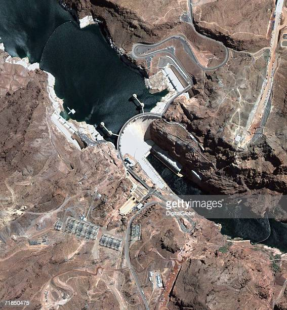 This is a satellite image of Hoover Dam collected on August 31 2005