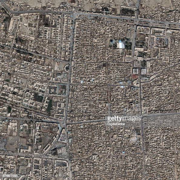 This is a satellite image of Kandahar Afghanistan collected on March 6 2002