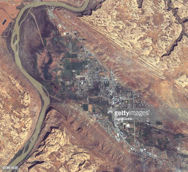 This is a satellite image of Moab Utah collected on April 22 2004