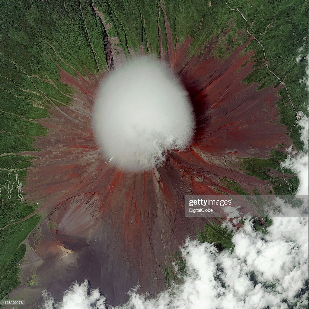 This is a satellite image of Mt. Fuji, the highest peak in Japan, collected on September 20, 2012. This image is the Runner-Up for the 2012 Top Image contest.