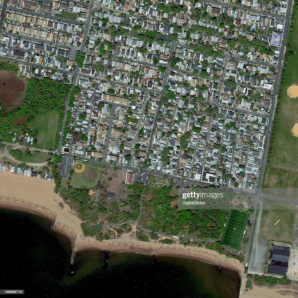 This is a satellite image of New Dorp Beach, New York, United States collected on April 19, 2012 .