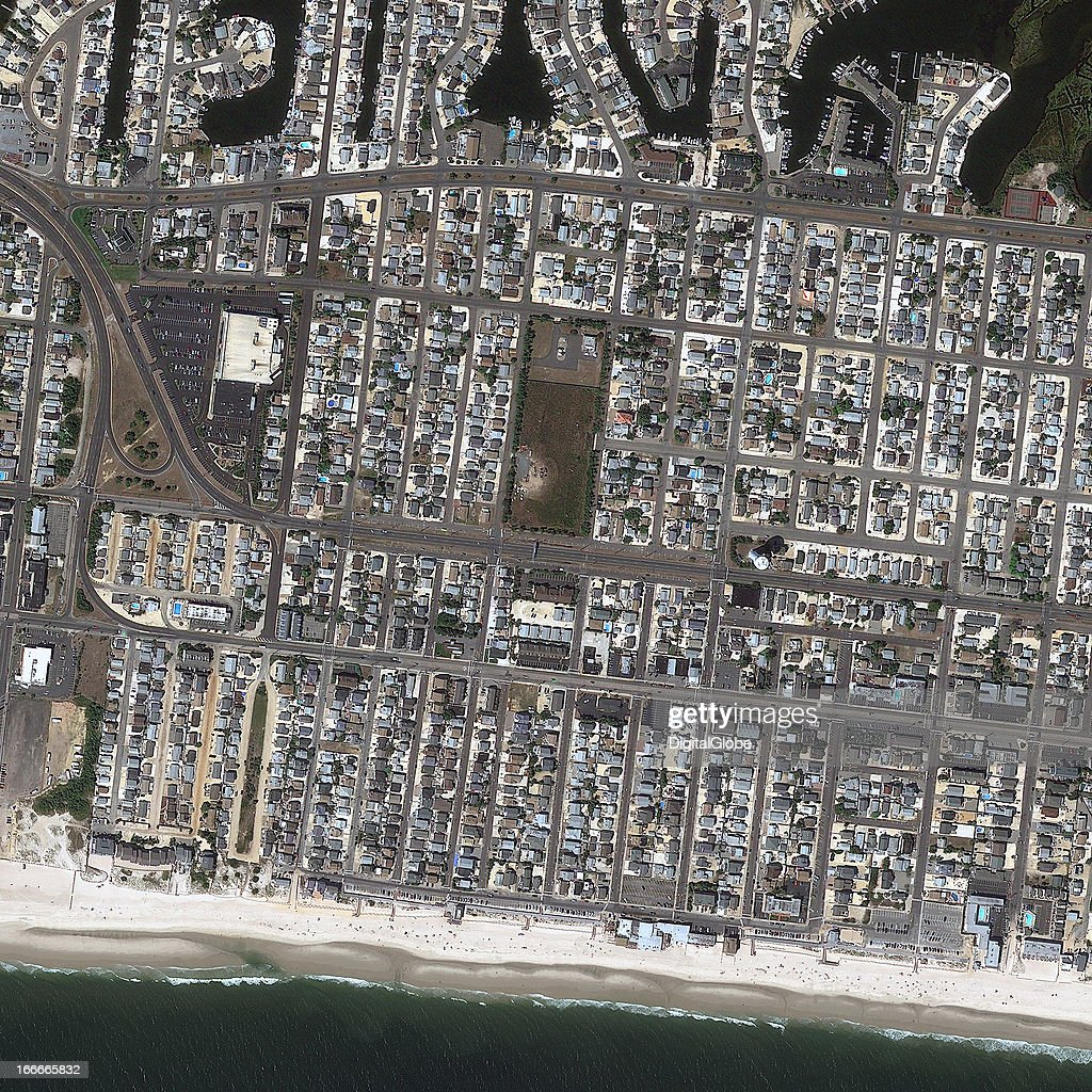 This is a satellite image of Ortley Beach, New Jersey, United States, collected on September 7, 2010.