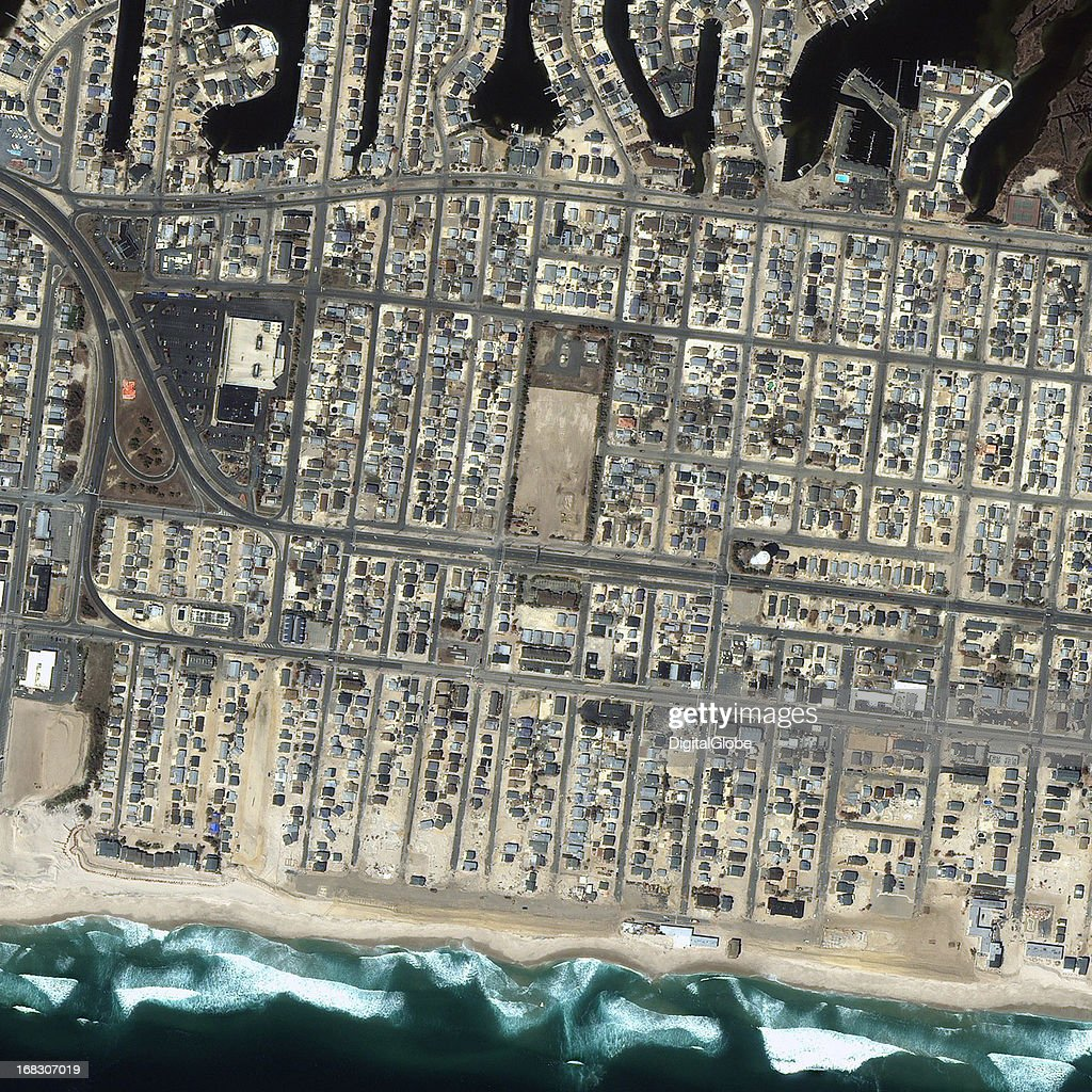 This is a satellite image of Ortley Beach, New Jersey, United States collected on April 26, 2013.