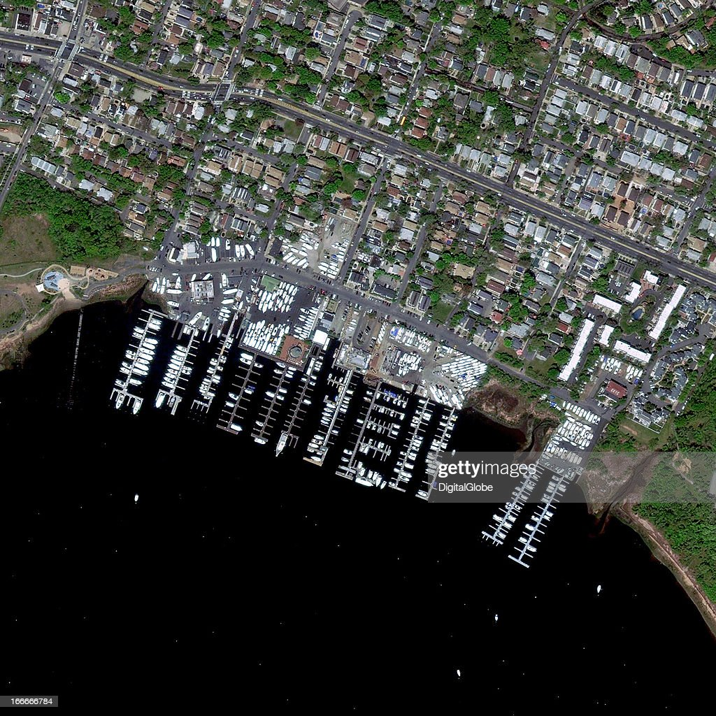 This is a satellite image of Richmond Yacht Club, New York, United Sates collected on April 19, 2012.