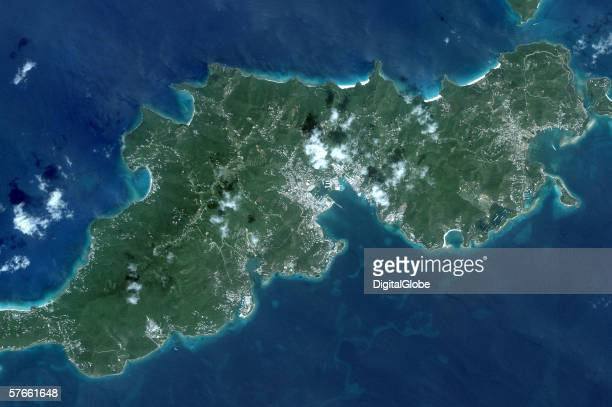 This is a satellite image of Road Town Virgin Islands collected on September 1 2005