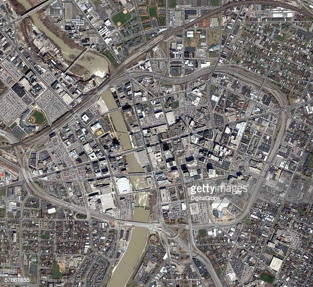 This is a satellite image of Rochester New York collected April 13 2005