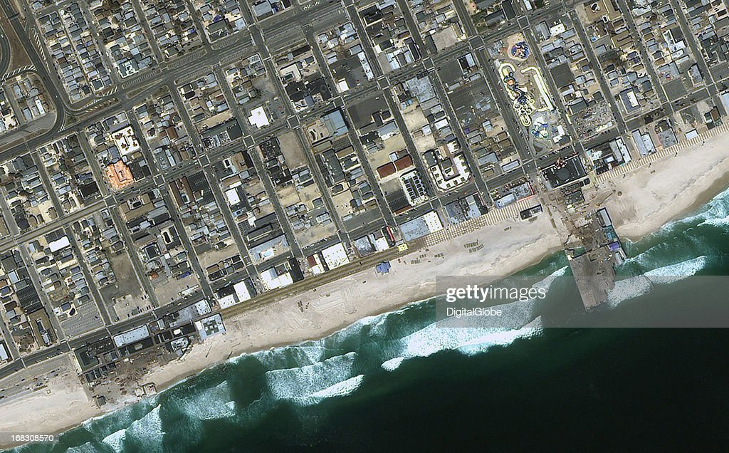 This is a satellite image of Seaside Heights, New Jersey, United States collectedd on April 26, 2013.