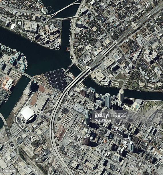 This is a satellite image of Tampa Flordia collected on April 6 2002