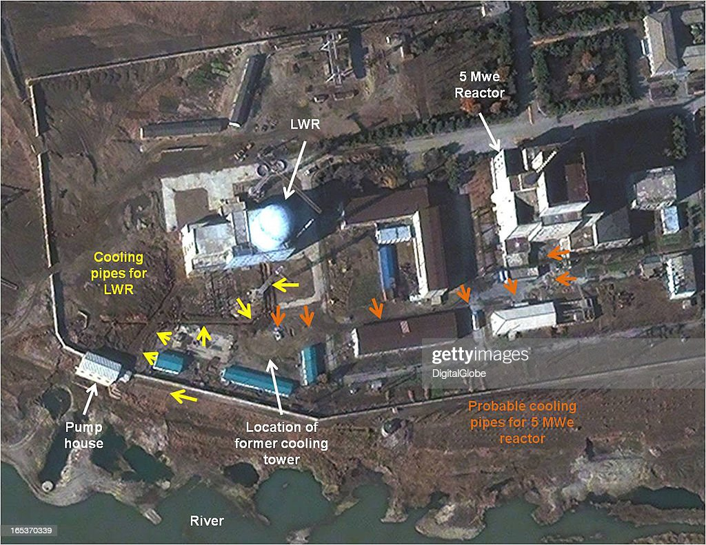 This is a satellite image of the 5 MWe Reactor at Yongbyon Nuclear Complex in North Korea collected on November 13 2012