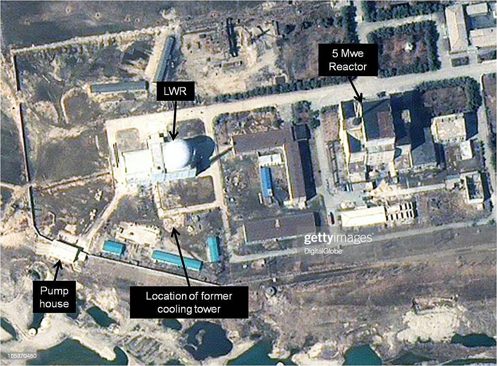 This is a satellite image of the 5 MWe Reactor at Yongbyon Nuclear Complex in North Korea collected on March 27 2013