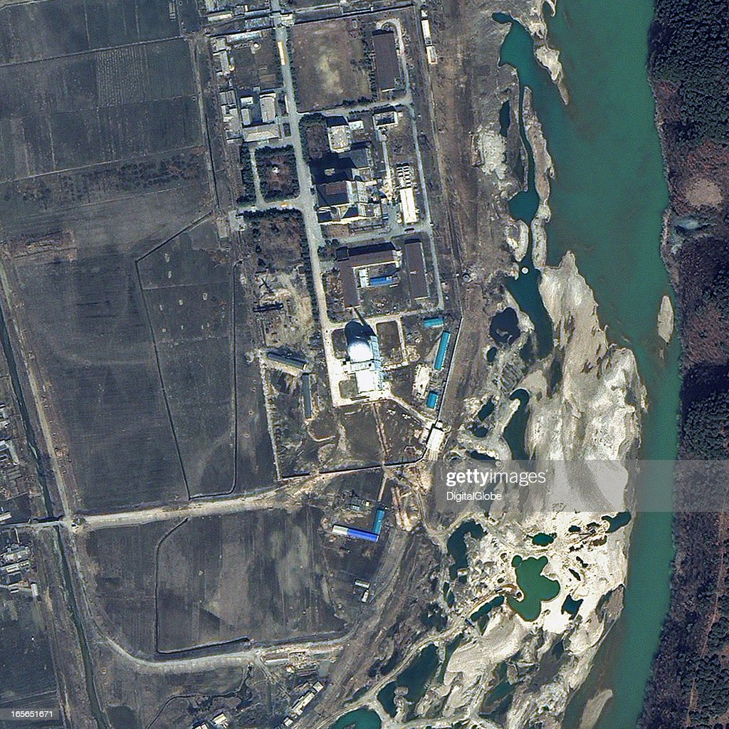 This is a satellite image of the 5 MWe Reactor at Yongbyon Nuclear Complex in North Korea collected on March 29 2013