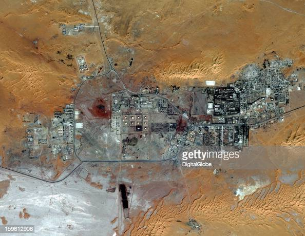 This is a satellite image of the Amenas Algeria Islamist militants held dozens of foreign hostages and hundreds of Algerian workers hostage in a gas...