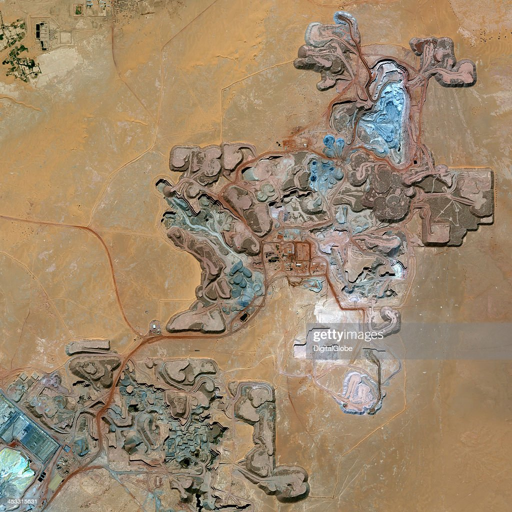 This is a satellite image of the Arlit Uranium Mine Arlit Niger collected on February 13 2013