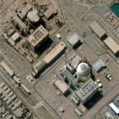 This is a satellite image of the Bushehr nuclear power plant on March 14 2013 On March 13 it was reported that Iran's Bushehr nuclear power plant was...