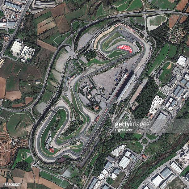 CATALUNYA BARCELONA SPAIN NOVEMBER 2 2012 This is a satellite image of the Circuit de Catalunya Barcelona Spain the home to Spains Formula1 Grand...