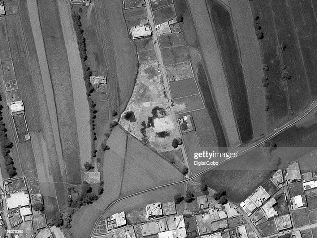 This is a satellite image of the former Osama Bin Laden compound in Abbottabad, Paksitan. The main building and compound have been razed.