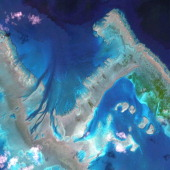 This is a satellite image of The Great Barrier Reef Australia collected on April 22 2013