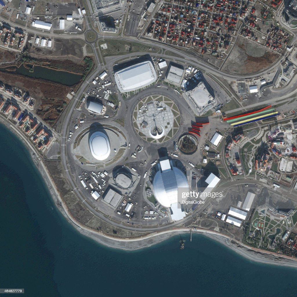 This is a satellite image of the Sochi Olympic Venue Cluster, Sochi, Russia collected on January 2, 2014.
