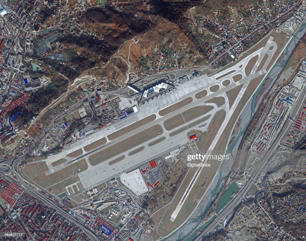This is a satellite image of The Sochi/Adler International Airport, Adler, Russia collected on January 2, 2014.