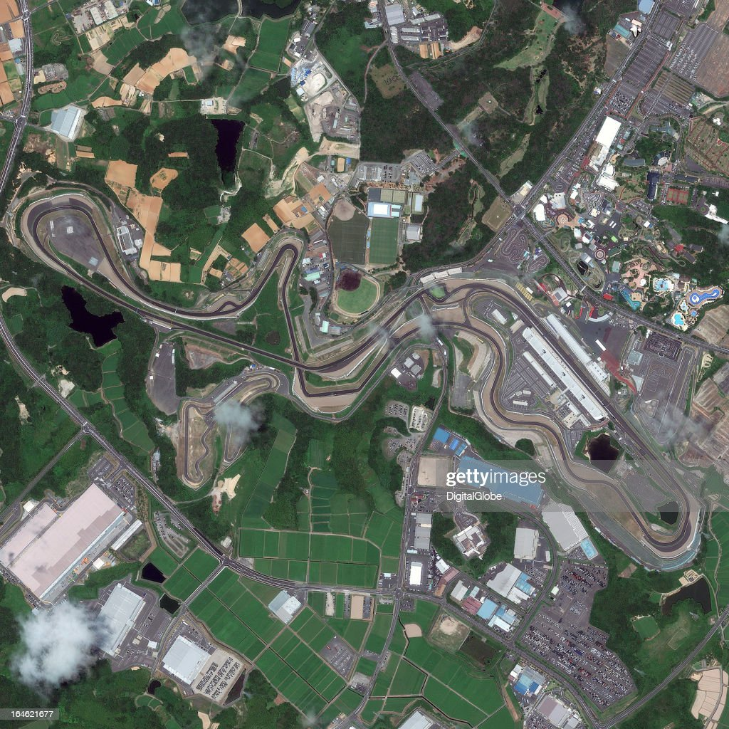 This is a satellite image of the Suzuka Circuit, Suzuka, Mie Prefecture, Japan, the home to the Japanese Grand Prix, collected on August 2, 2012.