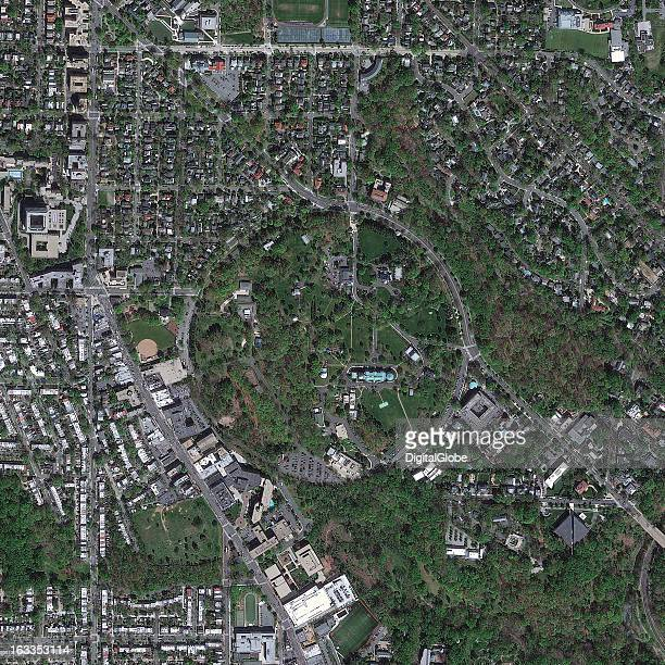 This is a satellite image of the United States Naval Observatory in Washington DC United States one of the oldest scientific agencies in the US with...