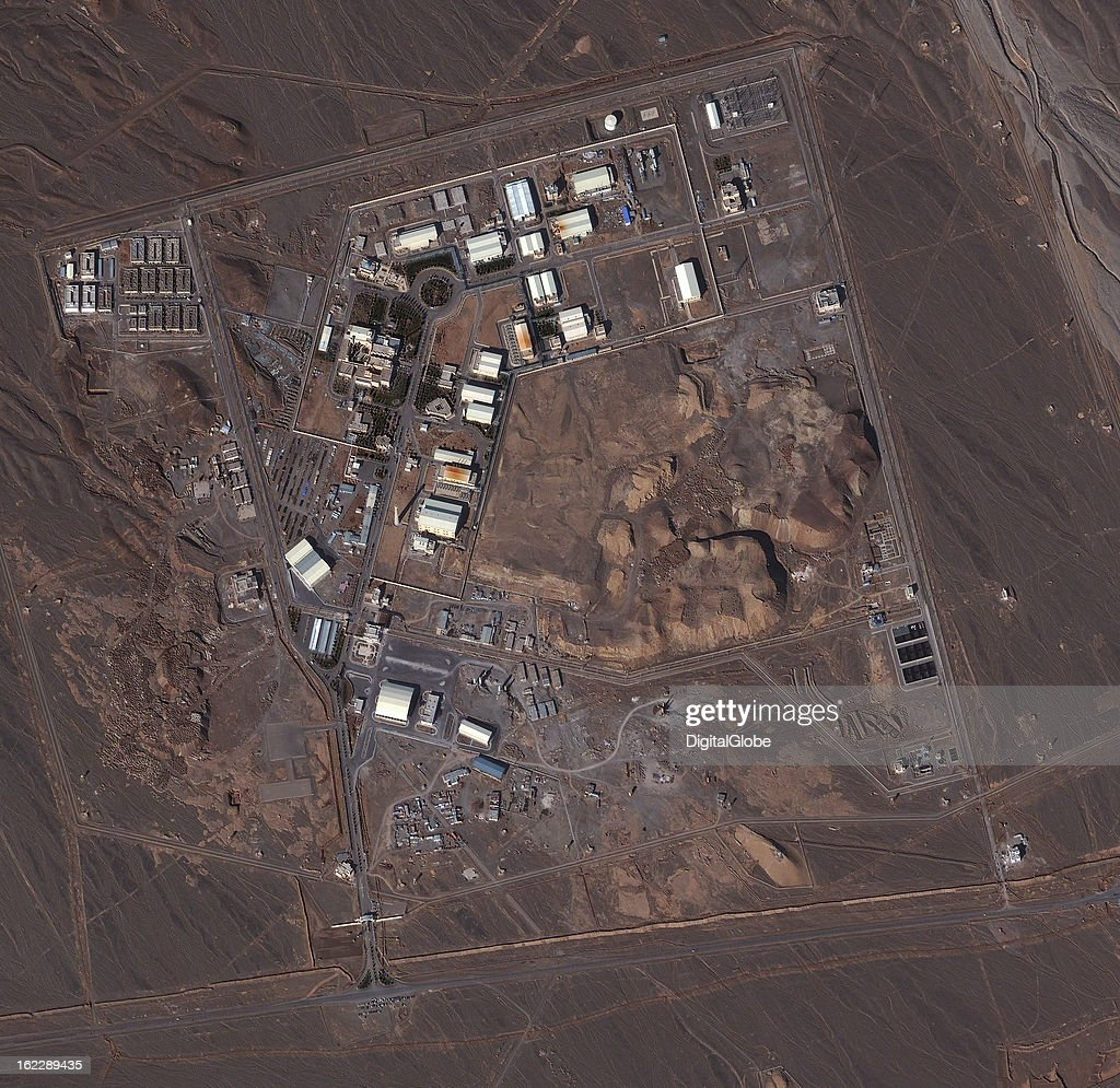 This is a satellite image of the uranium enrichment facility in Natanz, Iran.