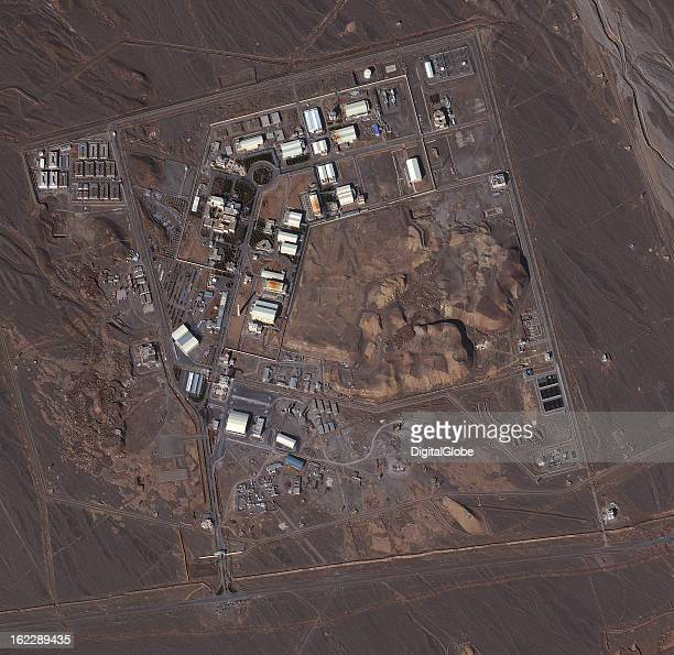 This is a satellite image of the uranium enrichment facility in Natanz Iran