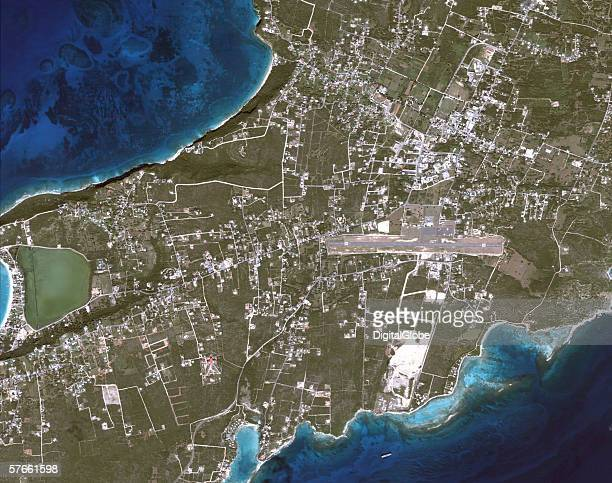 This is a satellite image of The Valley Anguilla collected on November 20 2005