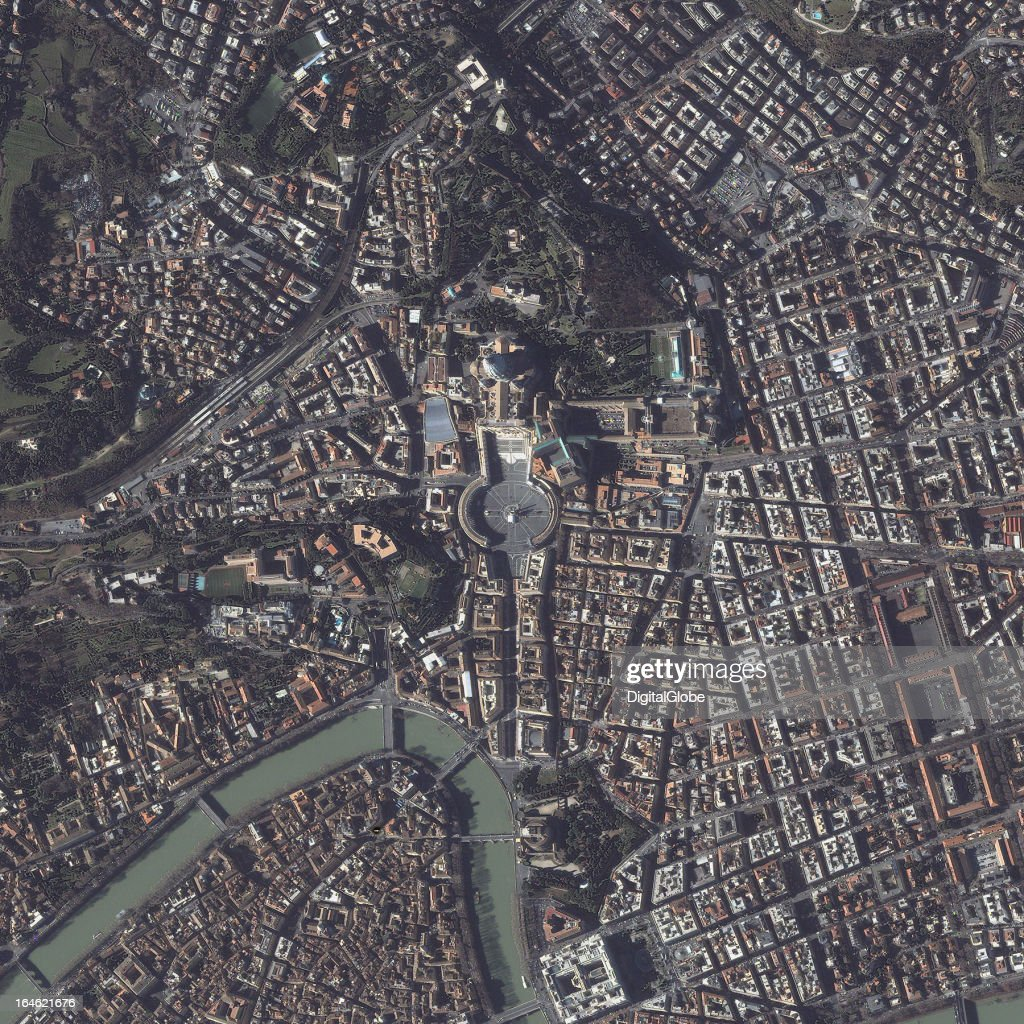 This is a satellite image of Vatican City, the smallest internationally recognized independent state in the world by both area and population, February 4, 2013.